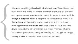 Lemony Snicket's Death Quote