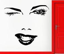 ... Vinyl Decal Eyes Winking Sexy Beautiful Hot Girl Woman Wink (z004