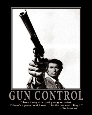 Clint on Gun Control