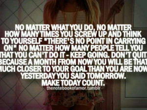 No matter what you do