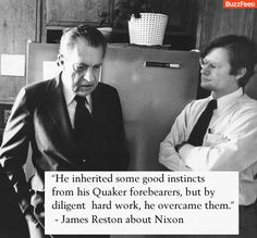 James Reston insulting Richard Nixon