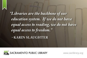 ... Quotes Items, Education System, Equality Accessible, Karin Slaughter
