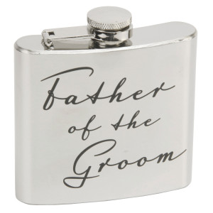 Details about Amore Wedding Gifts. 5oz Silver Stainless Steel Hip ...