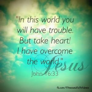John 16:33 Overcome the world