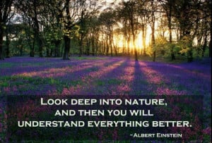 Quotes of albert einstein look deep into nature famous people quotes ...