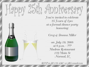 Shop our Store > 25th Wedding Anniversary Party Invitations