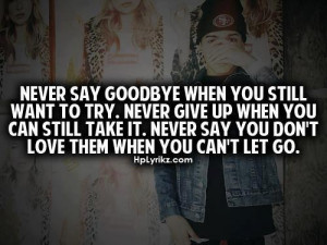 never say goodbye...