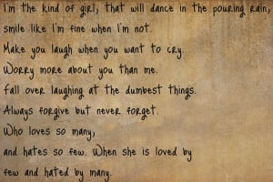 Im The Type Of Girl Quotes Tumblr I'm the kinda girl by maryyas-