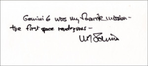 ... wally m schirra autograph quotation signed document 264501 wally
