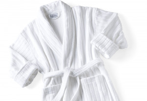 Velour Stripe Bathrobe