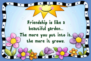 Short Garden Sayings | Friendship Poems Quotes Garden Greeting Cards ...