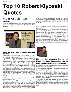 Top 10 Robert Kiyosaki Quotes