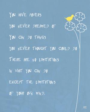 ... quote art print room decor , motivational words , etsy wall art, blue