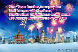 God Bless You Through Out The New Year