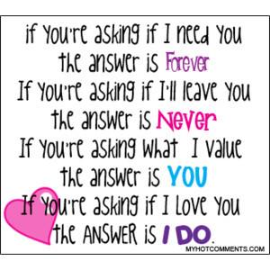 If I need you... boyfriend girlfriend
