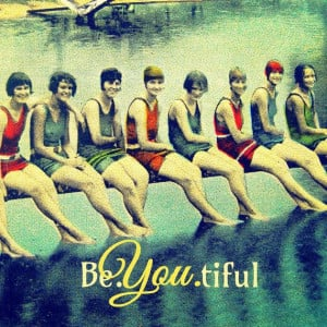 BE.YOU.TIFUL beautiful typography Art Deco vintage swim girls wall ...
