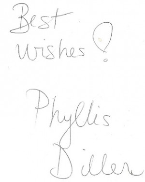 The Joys of Aging - and how to avoid them by Phyllis Diller **Signed ...