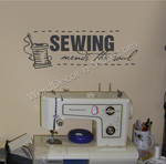 SEWING Motivational Wall Quote