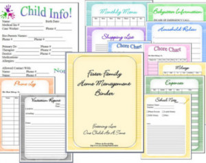 Foster Care Family Home Management Binder ...