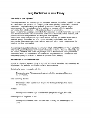 Using Quotations in Your Essay by qingyunliuliu