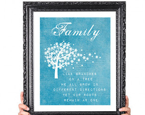 Modern Family Quote Print, Family T ree Print, Gift for Wife Husband ...
