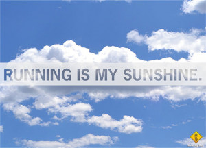 We're loving this quote from Joan Twine: Running is my sunshine ...