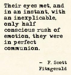 Scott Fitzgerald quote.
