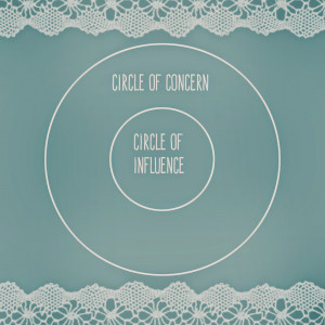 Circle of influence vs. circle of concern , Seven Habits style.