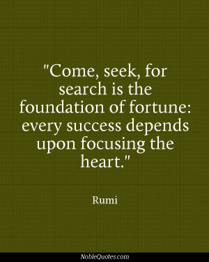 Seek For Search The Foundation Fortune Every Success