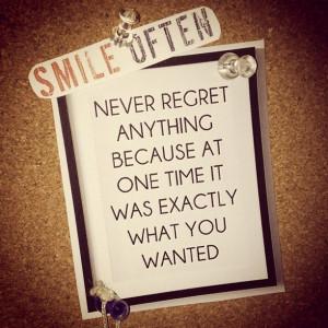 10. No Regrets