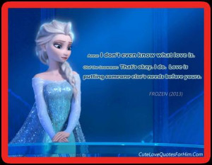 Frozen Quotes and Sayings