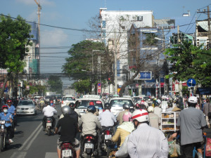 Saigon a city of 9 million, 4 million of them are moto bike drivers.