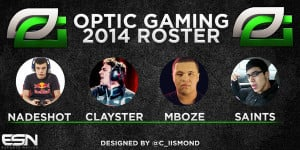 optic gaming roster 2014
