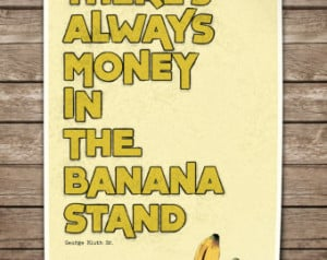 Funny Banana Quotes Quote typography poster.