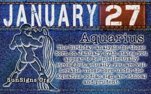 January 27th Aquarius birthday astrology personality