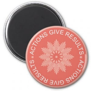 Word Quotes ~Actions Give Results~Inspirational Magnet