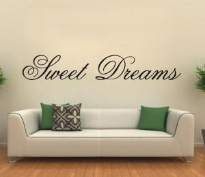 Modern-Wall-Sticker-Sweet-Dreams-Vinyl-Art-Mural-Wall-Quote-Saying ...
