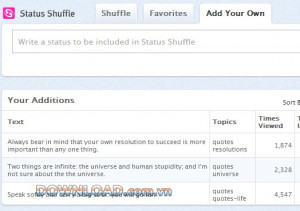 Status Shuffle Ngh Facebook