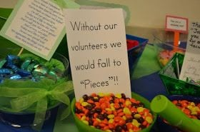 without our volunteers we would fall to pieces (Reese's Pieces)