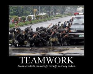 Poster about teamwork