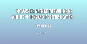My washing machine overwhelms me with its options and its ...