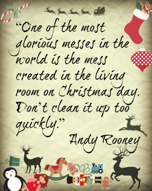 Christmas Advent Calendar - Andy Rooney quote