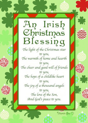 An Irish Christmas Prayer www.VitaminSeaDesign.com