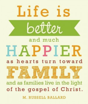 as hearts turn toward family and as families live in the light of the ...