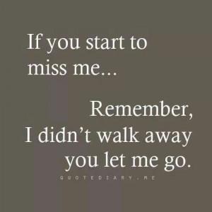 didn't walk away...
