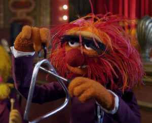 Animal appeared prominently both in The Muppets film and the promotion ...
