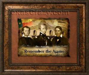 Remember the Alamo Framed