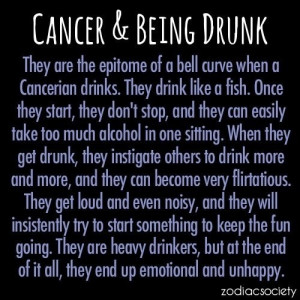 Cancer & Being drunk