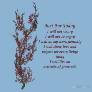 Just For Today Quotes Just for today