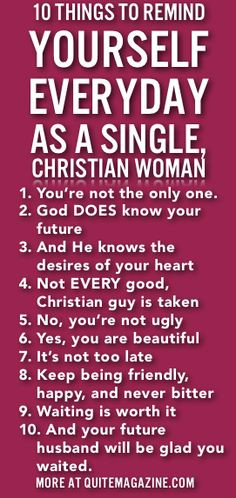 10 Things To Remind Yourself Everyday As A Single Christian Woman